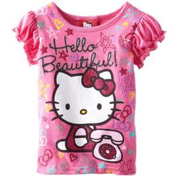 Pink Kitty Girls Clothes 2016 Brand New Children T-Shirts Kids Tee Shirts Tops Polo Shirts Summer Short Sleeve T shirt 360pcs