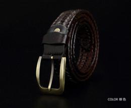 Ceintures de concepteur mens pour les jeans à vendre-Casual Véritable mâle ceinture en cuir tressé sangle pour Fashion Designer homme mens ceintures luxe 2016 ceinture de haute qualité pour les jeans