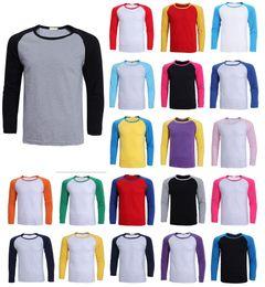 Wholesale Brand New Womens Mens Tee Unisex Long Sleeve Raglan Baseball Triblend Casual T Shirts Tee Jersey Top Drop Shipping