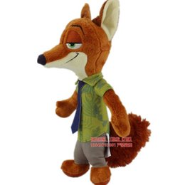 1pcs  lot Zootopia crazy city animal plush toy rabbit Judy Nick Wilde fox Nick dolls dolls