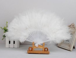 Ten colorful Japanese Elegant Folding Feather Hand Fan Wedding Decoration Honorable Vintage Dance Fan Party Decoration