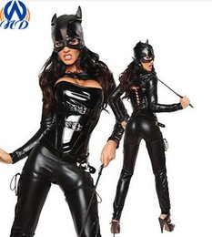 Wholesale Halloween Cosplay Masquerade Cat Costumes Sexy Wild Girl Bar Performance Costumes Suits Catwoman Party Clothes WS0002