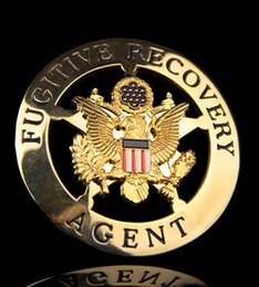Wholesale The investigation of bail fugitive double combination America copper badge