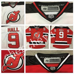 Wholesale 2016 Men s New Jersey Devils Taylor Hall hockey jersey Red Home Remier Player Jersey Size M XXXL