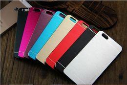 Wholesale Great Luxury Ultra thin Motomo Brushed Brush Aluminium Metal Slate Hard Back Case Cover For iphone plus Samsung S3 S4 S6 DHL