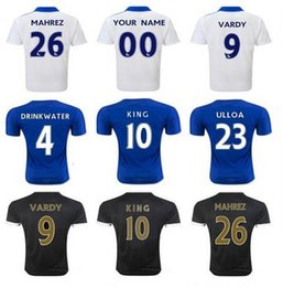 Wholesale TM Thai quality Leicester City Soccer Jersey Home Away football shirt DRINKWATER MAHREZ VARDY sportswear