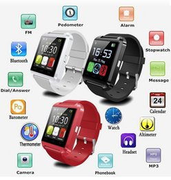 2016 Bluetooth U8 Smart Watch sports Phone For Android IOS Phone Wrist Watch available English And Chinese White black Red choose