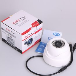Wholesale Vandalproof TVL IR LEDs mm Lens Wide Angle View Aluminum Dome Surveillance Security home Camera White Black