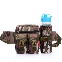 Waist Pack for Outdoor Sports, Fanny Pack Outdoor Sports Waist Bag Belt Adjustable Strap Waist Bag Pack with Water Bottle Holder Bag Pocket
