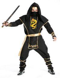 Japanese ninja Mens Clothing Male Cosplay man warrior Movies costumes Halloween 6pcs sets Free shipping