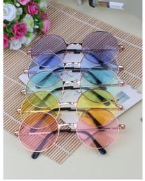 Japan explosion models tide circular fluorescent color lens sunglasses mirror sunglasses John Lennon Style Vintage Round Peace Sunglasses Un