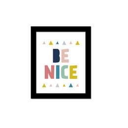 Wholesale English alphabet quotations BE NICE Art Oil Painting European style minimalist decor new European and American fashion