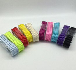 Wholesale 1 m Nylon Braided Type C Micro USB Cable Male to Micro B Aluminum Shell Connectors for Samsung S4 S5 S6 S7 Edge Note7