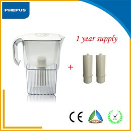 Wholesale Hot sell tabletop Fashion plastic housing and white color water filter pitcher AS material with filter cartridge