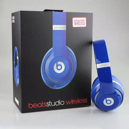 Wholesale Amazing Used beats Studio Wireless Headphones Noise Cancel Headphones Fashion Refurbished Headset with seal retail box Free DHL