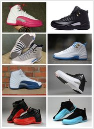 Wholesale sale retro s for men and women XII Black Varsity Red white Flu Game shoes XII sneakers brand new