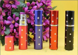 Wholesale perfume bottle ml Aluminium Anodized Compact Perfume Aftershave Atomiser Atomizer fragrance glass scent bottle with titoni Mixed color best