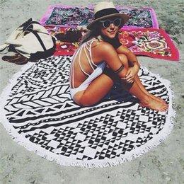 Wholesale 2016 Large Cotton Round Beach Spa Bath Round Tapestry Wall Hanging Beach Throw Towel Mat Boho Decor Swimming Sunbath