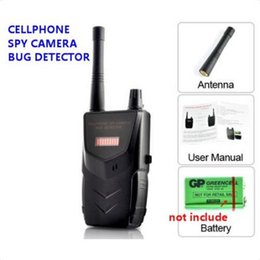 Wholesale 20 mhz Wireless RF Signal Audio Bug Tap Video Camera Anti spy Cell Phone Hidden Camera Detector Sound and LED Alarm Bug Detect Detecting