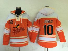 Wholesale Top Quality Cheap Baltimore Orioles Old Time Baseball Jerseys Adam Jones Orange Baseball Hoodie Pullover Sweatshirts Winter Jacket