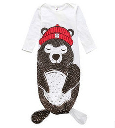 Wholesale Halloween Baby mermaid sleeping bag Monster sleepwear infants bodysuits Ins autumn baby clothing Kids clothes Protect belly free SF