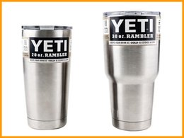 Wholesale 2016 Hot Stainless Steel tumbler Insulation Cup OZ YETI Cups Cars Beer coffe Mug Large Capacity Mug Tumblerful