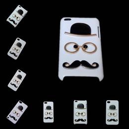 Wholesale Cute Skin Case for iPhone S S SE C S Plus iPhone Plus D Fashion Chaplin Sexy Gentleman Hat Glasses Mustache Hard Back Cover