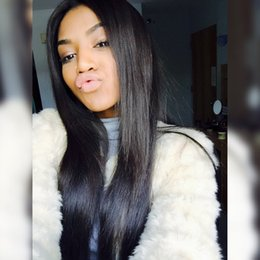 Peruvian Human hair glueless lace front human hair wigs black women silky straight glueless full lace wigs with baby hair