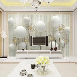 Custom Mural Wallpaper 3D Stereo European Living Room Sofa Backdrop Wall Paper Modern Minimalist Bedroom Wallpaper Art Room decor Dandelion