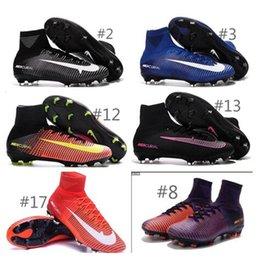 Wholesale 2016 new Original mens V VI Soccer Shoes SuPeRflY MerCURial FG CR7 Football Boots soccer cleats soccer boots hypervenom size mens US6