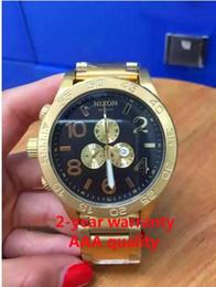 Free shipping New CHRONO NIXO 51-30 Chrono All Gold Chronograph Mens Watch A083 A083-011 Watch