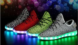 Men's shoes LED unisex led glow Women's Fashion Black lover tide shoes Men  Women Leather USB Light Shoes