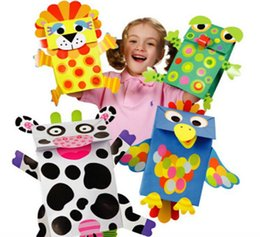 Wholesale Paper Bag Puppets Create Your Own Kids Children Kindergarten Educational Arts and Crafts Toys