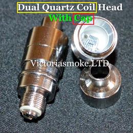 New Arrival Dual Quartz Cap Coil Head for Glass Globe Atomizer Glass Bulb Atomizer Dual Wax Coil Head Dual Coils Wax Vaporizer Coils eCigs