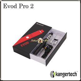 Wholesale Kanger Evod Pro E Starter Kit Kangertech EVOD PRO V2 Starter Kit with mAh Bulit in Battery Original DHL Free