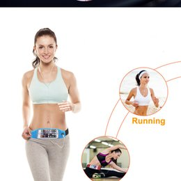 Waterproof Sport Running Waist Belt pouch Reflective stripe Bag Gym Arm band Pack iphone 6 6plus inch Hanging Elastic Adjustable Waistband