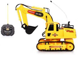 Wholesale Details about CH RC Excavator Digger Engineer Truck Light Bulldozing Electronic Loader Toys