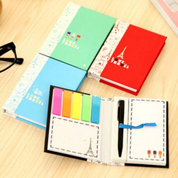 Wholesale 2 Sets Scratch Pad With Pen Creative Notes Sticky Notes Free Stickers Schedule Paper Nootbook Stationery Christmas Gift Prize