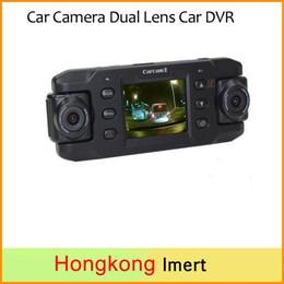 Wholesale Dual Lens car dvd player Auto DVRs Car DVR with GPS Dash Cam Recorder Video Camcorder Full HD P Night Vision Registrator X8000