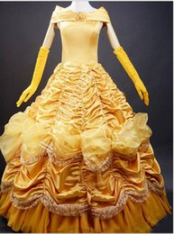 Wholesale Beauty and the Beast Adult Costumes Luxurious Princess Belle Dress Cosplay beauty and beast dvd beauty and beast costume beauty and beast fi
