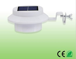 Wholesale High Quality Stainless Steel PMMA Aluminium V W White Outdoor Leds Garden Solar Light With CE ROSH Certificate
