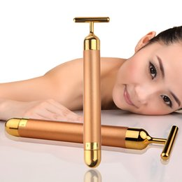 New Arrival Energy 24K Gold Beauty Bar Pulse Firming Massager Facial Roller Massage Lady Beauty Face Body Care Beauty Roller FREE SHIPPING