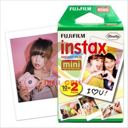 Wholesale 20pcs FUJIFILM Instant FUJI Instax Mini Films White Edge Photo Papers for mini7s mini8 mini90 mini25 s Polaroid s Share SP