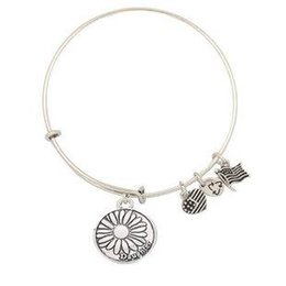 Wholesale Newest Style hot sale Gold plated Alex and ANI restoring ancient ways Lotus flowers in a variety of letters pendant bracelet High Quality