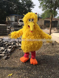 The famous yellow big bird mascot costume, I like the cartoon character, high quality cute mascot.