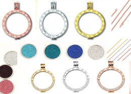 Wholesale stainless steel jewelry coin holder chain complete set mm diy rhinestone diamond coin engraved fashion Mi moneda pendant locket necklace