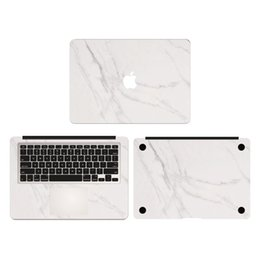 Wholesale White Marble Grain Vinyl Full Body Cover Laptop Decal Skins For Apple Macbook Air Pro Retina inch Protective Stickers