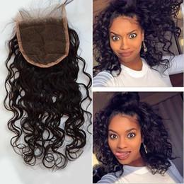 Wholesale Best A Top Quality Brazilian Lace Closure Water Wave quot x4 quot Free Part Brand Human Hair Brazilian closure