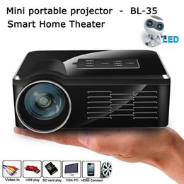 Wholesale Led Projecteur Lcd - BL-35 Projectors Mini HD LED   LCD Proyector Home Multimedia Cinema Projetor 800LM VGA USB AV Proiettore HDMI Projecteur