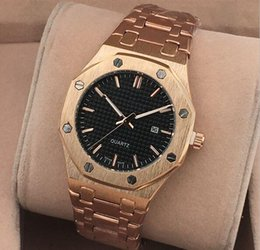 Wholesale 2016 Royal Oak manufacturers luxury mens watches stainless steel wrist table rose gold quartz watch watch domineering man